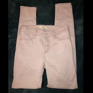 Abercrombie & Fitch pale pink skinny jeans